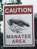 Detail of Warning Sign in Manatee Area