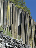 Basalt Columns of Devil's Postpile National Monument  California  Usa