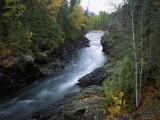Adams River Runs Through a Canyon