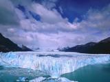 Winter clouds float over Moreno Glacier  Parque Nacional Los Glaciares  Argentina  Patagonia