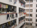 China  Guangxi Province  Guilin  Apartment Building Drying Laundry on the Balcony