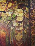 China  Silk Road  Xinjiang Province  Kashgar  Mural Inside Abakh Hoja
