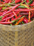 China  Red Pepper in Basket at Local Vegetable Market