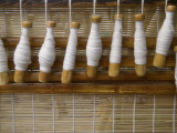China  Shanxi Province  Pingyao  Spindle Making Bamboo Curtain