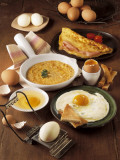 Close-Up of Eggs and Omelets in a Frying Pan