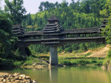 China  Guangxi Province  Dong People's Traditional Wind and Rain Bridge