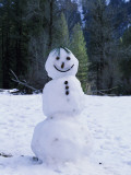 Detail of a Snowman in Park