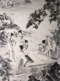 China  Beijing  Summer Palace  Ancient Painting Depicting Scholar&#39;s Gathering Together