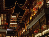 China  Shanghai  Night View of Traditional Architecture in Yuyuan Garden Bazaar