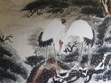 China  Chinese Brush Painting of Red-Crowned Cranes