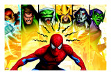 Spider-Man  Shocker  Sandman  Lizard  Electro  Morbius and Green Goblin