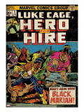 Marvel Comics Retro: Luke Cage  Hero for Hire Comic Book Cover 5  Black Mariah! (aged)