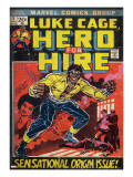 Marvel Comics Retro: Luke Cage  Hero for Hire Comic Book Cover 1  Origin (aged)