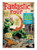Marvel Comics Retro: Fantastic Four Family Comic Book Cover No1 (aged)