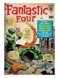 Marvel Comics Retro: Fantastic Four Family Comic Book Cover No1 (aged)