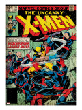 Marvel Comics Retro: The X-Men Comic Book Cover 133  Wolverine Lashes Out (aged)