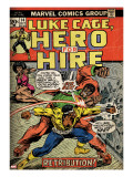 Marvel Comics Retro: Luke Cage  Hero for Hire Comic Book Cover No14  Fighting Big Ben (aged)