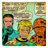 Marvel Comics Retro: Fantastic Four Comic Panel  Mr Fantastic  Invisible Woman  Thing (aged)