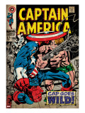 Marvel Comics Retro: Captain America Comic Book Cover 106  Cap Goes Wild (aged)