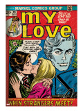 Marvel Comics Retro: My Love Comic Book Cover 20  Kissing  When Strangers meet! (aged)