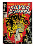 Marvel Comics Retro: Silver Surfer Comic Book Cover No3  Fighting Mephisto (aged)