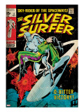 Marvel Comics Retro: Silver Surfer Comic Book Cover 11  Bitter Victory (aged)
