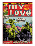 Marvel Comics Retro: My Love Comic Book Cover 14  Woodstock (aged)