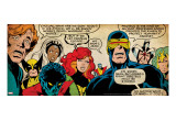 Marvel Comics Retro: X-Men Comic Panel (aged)