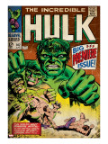 Marvel Comics Retro: The Incredible Hulk Comic Book Cover 102  Big Premiere Issue (aged)