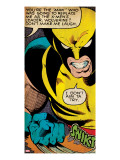 Marvel Comics Retro: X-Men Comic Panel  Wolverine (aged)