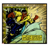 Marvel Comics Retro: Luke Cage  Hero for Hire Comic Panel (aged)