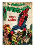 Marvel Comics Retro: The Amazing Spider-Man Comic Book Cover 68  Crisis on Campus (aged)
