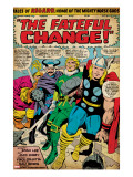 Marvel Comics Retro: Captain America Comic Panel  Tales of Asgard  the Fateful Change! (aged)