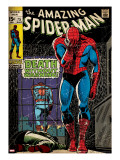 Marvel Comics Retro: The Amazing Spider-Man Comic Book Cover 75  Death Without Warning! (aged)