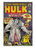 Marvel Comics Retro: The Incredible Hulk Comic Book Cover 1  with Bruce Banner (aged)