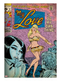 Marvel Comics Retro: My Love Comic Book Cover 2  Crying and Dancing (aged)
