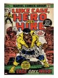 Marvel Comics Retro: Luke Cage  Hero for Hire Comic Book Cover 15  in Chains (aged)