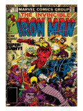 Marvel Comics Retro: The Invincible Iron Man Comic Book Cover 127  Against the Super-Army! (aged)