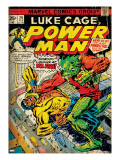 Marvel Comics Retro: Luke Cage  Power Man Comic Book Cover 29  Fighting Mr Fish (aged)