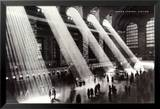 Grand Central Station à New York Poster en laminé encadré