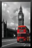 Bus rouge londonien Poster en laminé encadré