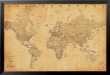 World Map - Vintage