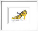 Yellow Pattern Shoe  c1955
