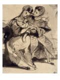 Un couple d'amoureux assis