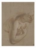 Une demi-figure de femme nue  tournée à droite  une main sur la droite