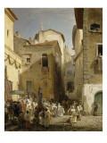 Une fête à Genazzano (Etats romains)