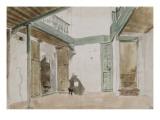 Une cour à Tanger ; 1832