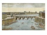 93ème vue du pont neuf  du côté du pont Saint-Michel à Paris