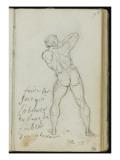 Album : étude d'homme nu de dos