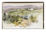 """Album d'Afrique du Nord & d'Espagne : paysage aux environs de Tanger """"2 mars promenade avec MHay """""""